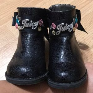 Juicy Couture Girls boots bling size 5 toddler